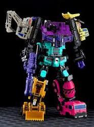 Size: 193x261 | Tagged: safe, applejack, fluttershy, pinkie pie, rainbow dash, rarity, twilight sparkle, bonecrusher, combiner, constructicons, custom, devastator, gun, hook, irl, long haul, mane six, mixmaster, photo, picture for breezies, scavenger, scrapper, toy, transformers, weapon