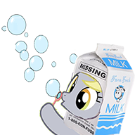 Size: 192x192 | Tagged: blowing bubbles, bubble, derpy hooves, female, mare, milk carton, pegasus, picture for breezies, pony, safe, silly, simple background, solo, source needed, transparent background, wat