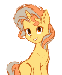 Size: 2233x2697 | Tagged: safe, artist:ink-dash, oc, oc only, oc:cinderheart, pony, unicorn, early concept, female, golden eyes, high res, mare, missing cutie mark, simple background, sketch, solo, white background