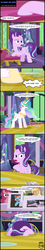 Size: 2276x12654 | Tagged: absurd res, alicorn, applejack, artist:toxic-mario, castle, celestial advice, comic, female, flag, mare, photo, pinkie pie, pony, princess celestia, rainbow dash, safe, senile, spoiler:s07e01, starlight glimmer, twilight's castle, twilight sparkle
