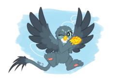 Size: 1500x1000 | Tagged: safe, artist:brownie-bytes, gabby, griffon, cute, female, gabbybetes, paw pads, paws, solo, wings