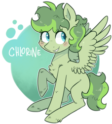 Size: 866x953 | Tagged: safe, artist:kyaokay, oc, oc only, oc:chlorine, object pony, original species, element pony, ponified, simple background, solo, transparent background