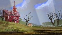 Size: 1920x1080   Tagged: safe, artist:quiet-victories, background, dolbolen challenge, scenery, sweet apple acres, wip