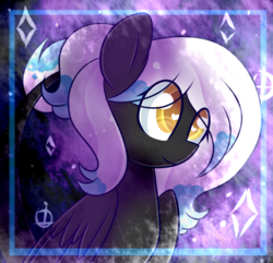 Size: 619x596 | Tagged: safe, artist:twily-star, oc, oc only, pegasus, pony, female, heart eyes, mare, solo, wingding eyes