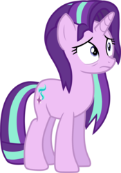 Size: 1373x1964   Tagged: safe, artist:davidsfire, starlight glimmer, pony, unicorn, all bottled up, female, mare, messy mane, simple background, solo, tired, transparent background, vector