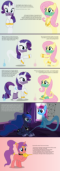 Size: 4096x11648   Tagged: safe, artist:parclytaxel, part of a set, fluttershy, princess luna, rarity, oc, oc:dream dancer, oc:parcly taxel, alicorn, genie, genie pony, pegasus, pony, unicorn, ain't never had friends like us, albumin flask, ask generous genie rarity, .svg available, absurd resolution, alicorn oc, armband, ask, bedroom, blinds, bottle, collar, comic, cremona-richmond configuration, female, floating, glowing horn, headband, horn ring, lamp, leg brace, looking down, looking up, magic, mare, math, pointing, ponytail, prone, raised hoof, rubbing, rules, saddle arabia, shantae, shantae (character), sitting, smiling, tail wrap, tumblr, vector, veil, whiteboard, window, wish