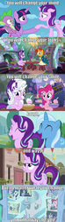 Size: 1280x4320 | Tagged: safe, edit, edited screencap, screencap, applejack, discord, fluttershy, pinkie pie, princess cadance, princess celestia, princess flurry heart, princess luna, rainbow dash, rarity, spike, starlight glimmer, sunburst, trixie, twilight sparkle, alicorn, dragon, earth pony, pegasus, pony, unicorn, celestial advice, every little thing she does, no second prances, the crystalling, the cutie re-mark, to where and back again, absurd resolution, alicorn tetrarchy, baking, blushing, crying, cute, female, flour, glasses, glimmerbetes, glowing horn, happy, image macro, laughing, male, mane six, mare, meme, mirror, photo, quote, reflection, screencap comic, smiling, spoilers for another series, spoilers in description, stallion, sunburst's glasses, sunburst's robe, tears of joy, twilight sparkle (alicorn), undertale