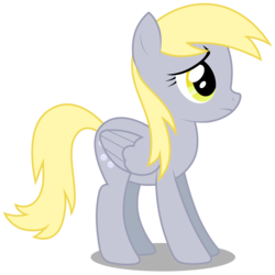 Size: 3000x3000 | Tagged: safe, artist:brony-works, derpy hooves, pegasus, pony, female, high res, mare, sad, simple background, solo, transparent background, vector