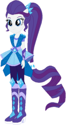 Size: 300x567 | Tagged: safe, artist:ra1nb0wk1tty, rarity, equestria girls, legend of everfree, boots, crystal guardian, female, high heel boots, jewelry, ponied up, ponytail, simple background, solo, sparkles, super ponied up, white background