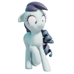 Size: 2048x2048 | Tagged: 3d, 3d model, artist:therealdjthed, blender, coloratura, cycles, cycles render, disgusted, do not want, earth pony, female, mare, pony, rara, safe, simple background, solo, transparent background