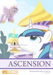 Size: 707x1000 | Tagged: safe, artist:dm29, princess cadance, shining armor, alicorn, pony, unicorn, comic:ascension (dm29), cover art, patreon, patreon logo