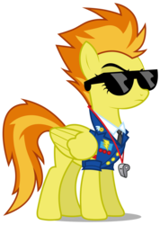 Size: 2130x3000 | Tagged: safe, artist:brony-works, spitfire, pegasus, pony, clothes, drill sergeant, female, high res, raised eyebrow, simple background, solo, sunglasses, transparent background, vector, wings, wonderbolts dress uniform