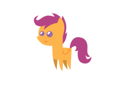 Size: 3182x2327 | Tagged: safe, artist:aborrozakale, scootaloo, pony, high res, pointy ponies, simple background, solo, transparent background