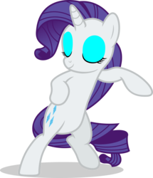 Size: 7000x8144 | Tagged: safe, artist:luckreza8, rarity, pony, unicorn, absurd resolution, bipedal, dancing, eyes closed, eyeshadow, female, fresh princess of friendship, makeup, mare, pose, simple background, sliding, smiling, solo, transparent background, vector