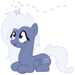 Size: 1000x1000 | Tagged: safe, artist:toyminator900, oc, oc only, oc:aureai gray, butterfly, pegasus, pony, lying down, open mouth, recolor, simple background, solo, transparent background