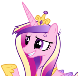 Size: 4109x4003 | Tagged: safe, artist:sketchmcreations, princess cadance, pony, a flurry of emotions, absurd resolution, messy mane, raised hoof, simple background, smiling, solo, transparent background, vector