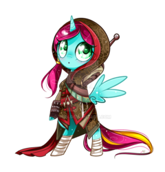 Size: 800x833 | Tagged: alicorn, artist:ipun, bipedal, clothes, cosplay, costume, female, mare, oc, pony, safe, simple background, solo, transparent background