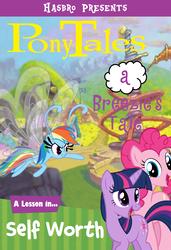 Size: 827x1208 | Tagged: artist needed, safe, edit, pinkie pie, rainbow dash, twilight sparkle, breezie, series:pony tales, breeziefied, parody, rainbow breez, species swap, veggietales