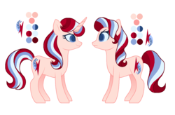 Size: 1144x752 | Tagged: artist:carouselunique, colored pupils, female, hornless unicorn, mare, oc, oc:astrid quartz, oc:cherry quartz, oc only, offspring, parent:flam, parent:flim, parents:flimglam, parent:starlight glimmer, reference sheet, safe, simple background, sisters, transparent background, unicorn