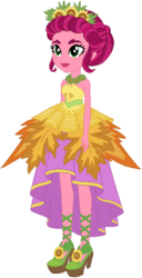 Size: 294x576   Tagged: safe, artist:ra1nb0wk1tty, gloriosa daisy, equestria girls, legend of everfree, female, simple background, solo, white background
