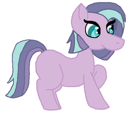 Size: 480x428 | Tagged: safe, artist:glamgoria-morose, oc, oc only, oc:synastry, earth pony, pony, blank flank, faic, magical lesbian spawn, offspring, parent:maud pie, parent:starlight glimmer, parents:starmaud, simple background, solo, white background