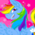 Size: 1280x1280 | Tagged: safe, artist:gibbyybearr, rainbow dash, pony, bust, female, icon, open mouth, over shoulder, portrait, smiling, solo, teeth, wings