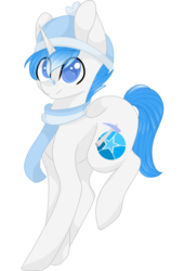 Size: 1024x1500 | Tagged: safe, artist:cinnamontee, oc, oc only, oc:diamond star, pony, unicorn, clothes, male, scarf, simple background, solo, stallion, transparent background