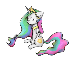 Size: 860x700 | Tagged: alicorn, artist:midnightpremiere, celestia is not amused, crown, female, jewelry, looking at you, mare, peytral, pony, princess celestia, regalia, safe, simple background, sitting, solo, transparent background