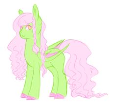 Size: 1517x1310 | Tagged: safe, artist:kittii-kat, oc, oc only, oc:blossom, bat pony, pony, female, mare, simple background, solo, white background