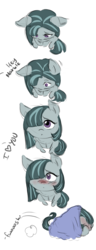 Size: 2002x5200 | Tagged: safe, artist:mrscurlystyles, derpibooru exclusive, marble pie, earth pony, pony, absurd resolution, blushing, comic, cute, daaaaaaaaaaaw, embarrassed, female, hiding, hnnng, i love you, looking at you, marblebetes, offscreen character, pov, shy, simple background, so cute it kills you, weapons-grade cute, white background