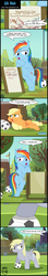 Size: 1605x9049 | Tagged: absurd res, applejack, armpit wing, artist:toxic-mario, buff, comic, derpy hooves, female, filly, filly applejack, filly derpy, filly rainbow dash, football, muscles, pegasus, pony, rainbow dash, safe, soccer field