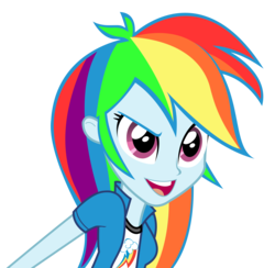 Size: 3779x3693 | Tagged: safe, artist:cheesepuffs, rainbow dash, equestria girls, rainbow rocks, clothes, female, open mouth, show accurate, simple background, solo, transparent background, vector