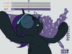 Size: 1600x1200 | Tagged: safe, artist:anontheanon, starlight glimmer, sunset shimmer, oc, oc only, oc:nyx, alicorn, pony, /mlp/, 2016 us presidential election, alicorn oc, armpits, colored, drawthread, eyes closed, female, filly, floppy ears, glasses, gray background, headband, jeb bush, meme, nipples, nudity, open mouth, outstretched arms, ponified, simple background, solo, text, underhoof, united states
