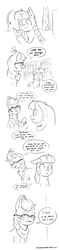 Size: 1500x6365 | Tagged: absurd res, alicorn, artist:raph13th, black and white, comic, comic:glim glam and pals, dialogue, female, grayscale, implied trixie, mare, monochrome, moondancer, pony, safe, tumblr, twilight sparkle, twilight sparkle (alicorn), unicorn