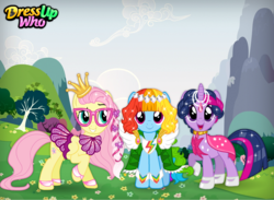 Size: 750x550 | Tagged: alicorn, artist:user15432, clothes, dress, dressup, dress up game, dressupwho, dress up who, flash game, fluttershy, glamour, glitter, hairstyle, hairstyles, hair styling, makeover, mane six, pegasus, pony, rainbow dash, safe, starsue, styled hair, twilight sparkle, twilight sparkle (alicorn), unicorn