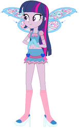 Size: 333x540 | Tagged: artist:selenaede, artist:user15432, base used, believix, belly button, bloom, bloom (winx club), clothes, crossover, equestria girls, fairies are magic, fairy, fairy wings, gloves, human, humanized, midriff, rainbow s.r.l, safe, twilight sparkle, winged humanization, wings, winx club