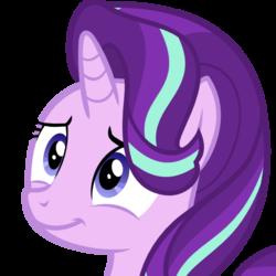 Size: 512x512   Tagged: safe, starlight glimmer, pony, unicorn, derpibooru, .svg available, derpibooru badge, female, meta, simple background, smiling, solo, svg, transparent background, vector