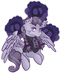Size: 1024x1243   Tagged: safe, artist:bewarethemusicman, inky rose, pegasus, pony, honest apple, female, freckles, hooves, mare, solo, spread wings, wings