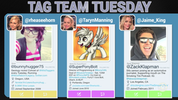 Size: 1152x648 | Tagged: safe, oc, oc only, oc:bolt the super pony, oc:superboltpony, pony, @midnight, barely pony related, bronycan, irl, meta, photo, ponies in real life, tag team tuesday, twitter