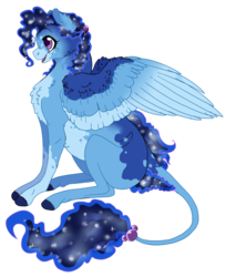Size: 765x900 | Tagged: safe, artist:bijutsuyoukai, oc, oc only, pegasus, pony, female, leonine tail, magical lesbian spawn, mare, offspring, parent:princess luna, parent:trixie, parents:luxie, simple background, sitting, solo, transparent background
