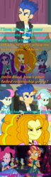 Size: 692x2394 | Tagged: safe, artist:alphamonouryuuken, edit, edited screencap, screencap, adagio dazzle, apple bloom, aria blaze, bon bon, captain planet, derpy hooves, flash sentry, lyra heartstrings, paisley, pinkie pie, sonata dusk, sunset shimmer, sweetie drops, valhallen, velvet sky, equestria girls, friendship games, legend of everfree, legend of everfree - bloopers, rainbow rocks, angry, boots, burn, caption, caption comic, clothes, crossed arms, crystal gala, crystal gala dress, cup, dragonball z abridged, eyes closed, face, fall formal outfits, hands behind back, heart, jewelry, one eye closed, out of character, pendant, screencap comic, shoes, sick burn, smug, sneakers, sun, team four star, vegeta, wink, yamcha