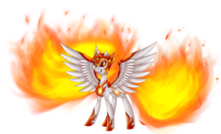 Size: 3496x2120 | Tagged: safe, artist:lorenacarrizo18, daybreaker, alicorn, pony, a royal problem, evil grin, grin, sharp teeth, simple background, smiling, solo, spread wings, teeth, transparent background, wings