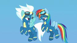 Size: 1920x1090 | Tagged: safe, screencap, fleetfoot, rainbow dash, pony, parental glideance