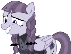 Size: 2656x2034 | Tagged: safe, artist:sketchmcreations, inky rose, pegasus, pony, honest apple, adorkable, awkward smile, cute, cutie mark, dork, female, goth, grin, inkybetes, mare, nervous, nervous grin, simple background, smiling, solo, teeth, transparent background, vector, when she smiles, wings