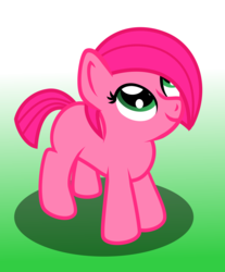 Size: 10229x12343 | Tagged: absurd res, artist:brightstarclick, female, filly, gradient background, oc, oc only, oc:rose, pony, safe, solo