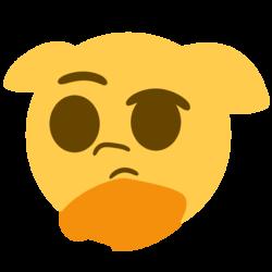 Size: 914x913 | Tagged: safe, artist:wenni, pony, emoji, floppy ears, ponified, raised eyebrow, simple background, thinking, thinking emoji, transparent background