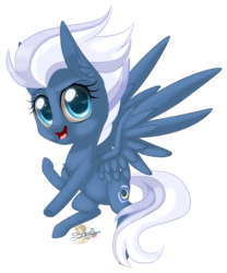 Size: 664x800 | Tagged: safe, artist:unisoleil, night glider, pegasus, pony, chibi, cute, glideabetes, simple background, solo, transparent background