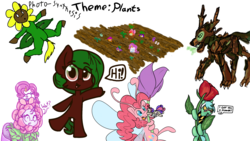 Size: 1920x1080 | Tagged: artist:allyclaw, artist:binkyt11, artist:brainflowcrash, artist:fluffyxai, artist:living_dead, artist:strangersaurus, bon bon, boop, breezie, breeziefied, breezie pie, clothes, costume, drawpile, drawpile disasters, female, filly, flower, flower costume, flowerity, forever filly, karate choppers, looking at you, lyra heartstrings, mare, noseboop, oc, oc:terra flora, photosynthesis, pinkie pie, plants, raritato, rarity, reference, rose, safe, scarf, semi-anthro, simple background, species swap, speech bubble, spongebob squarepants, sweetie drops, timber wolf, wat, white background