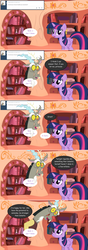 Size: 1280x3618 | Tagged: alicorn, artist:hakunohamikage, ask, ask-princesssparkle, discord, fourth wall, golden oaks library, pony, princess twilight, safe, tumblr, twilight sparkle