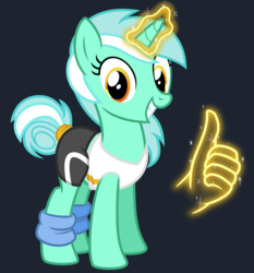 Size: 2800x3000 | Tagged: alternate hairstyle, artist:cheezedoodle96, clothes, female, glowing horn, hand, leg warmers, looking at you, lyra heartstrings, magic, magic hands, mare, pony, safe, shirt, simple background, smiling, solo, spandex, svg, .svg available, tail bun, tail wrap, thumbs up, transparent background, unicorn, vector, workout outfit